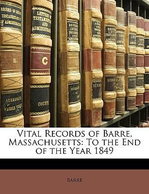 Vital Records of Barre, Massachusetts