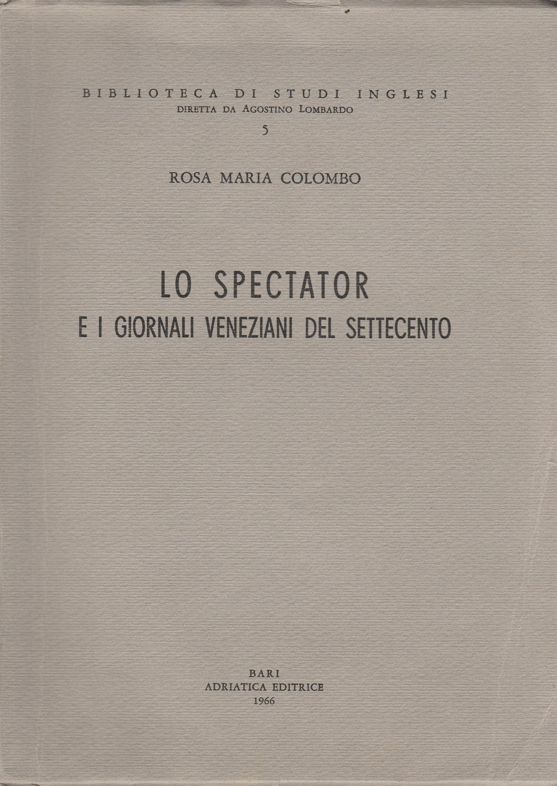Lo Spectator e i giornali veneziani del Settecento
