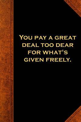 Shakespeare Quote Journal Pay Given Freely