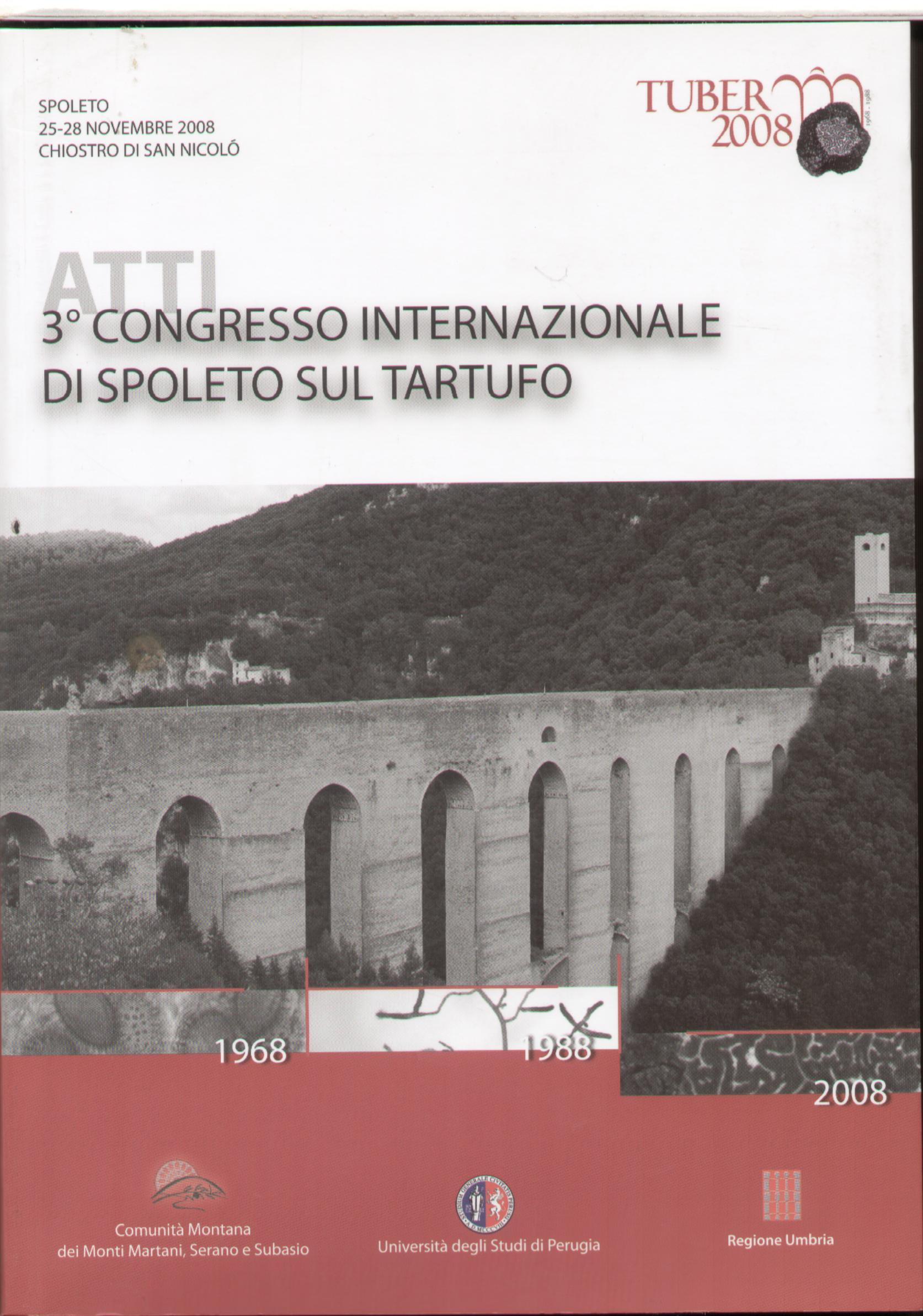 Atti 3° congresso internazionale di Spoleto sul tartufo
