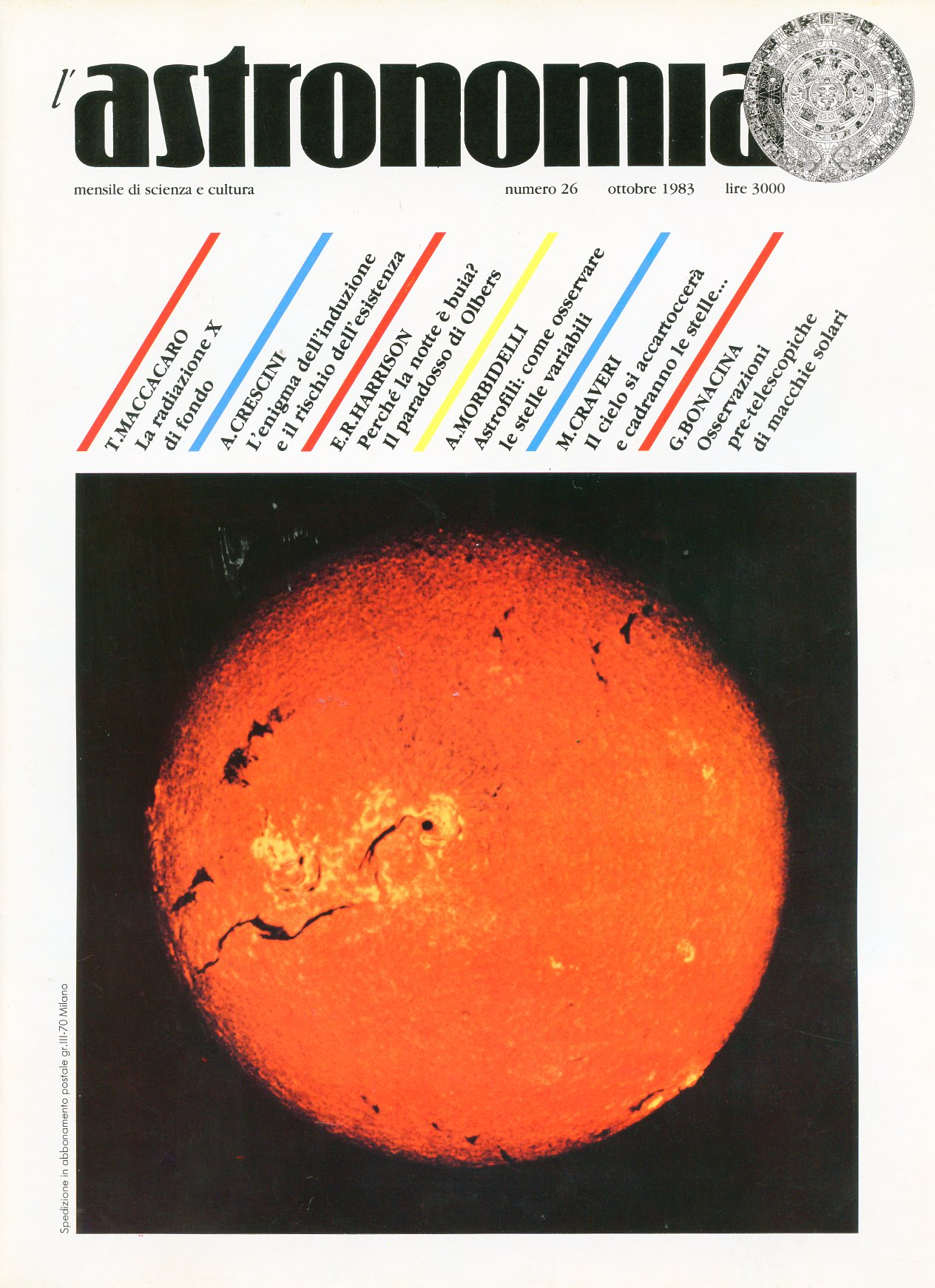 L'Astronomia, Anno V, n.26
