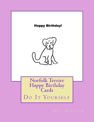 Norfolk Terrier Happy Birthday Cards