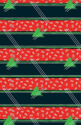 Journal Notebook Abstract Pattern Green Triangles