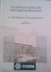 Gli effetti civili dei matrimoni religiosi