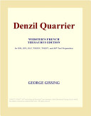 Denzil Quarrier (Webster's French Thesaurus Edition)