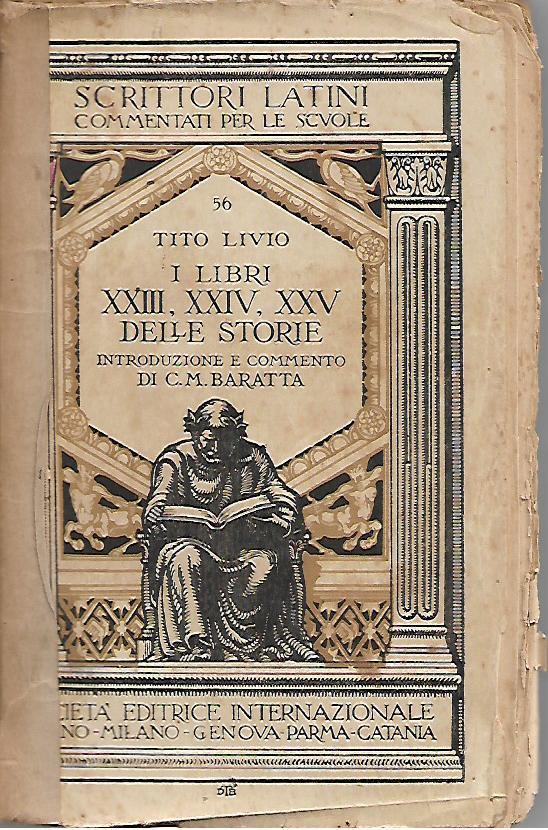 I libri XXIII, XXIV, XXV delle Storie