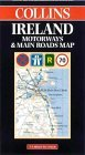 Ireland Motorways and Main Roads Map