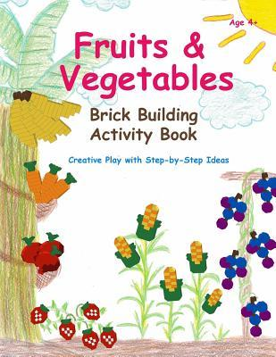Fruits & Vegetables - Brick Building Activity Book