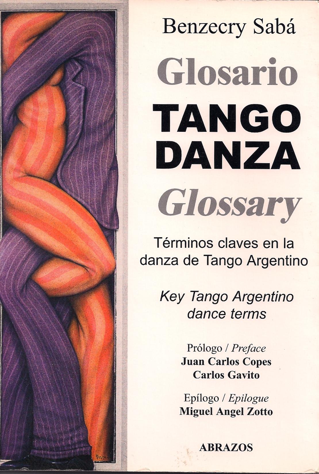 Tango danza glossary