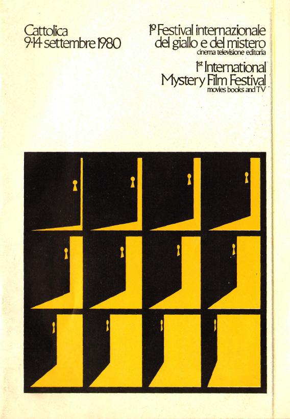1° Festival internazionale del giallo e del mistero. Cinema, televisione, editoria