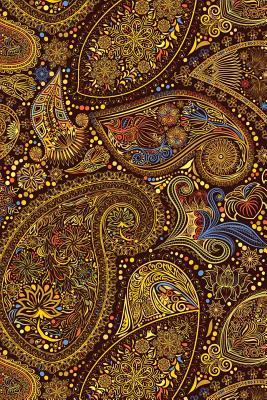 Colorful Indian Paisley Design Journal