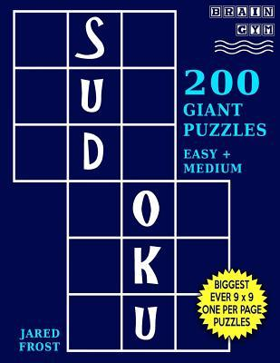 Sudoku 200 Giant Puzzles,100 Easy and 100 Medium