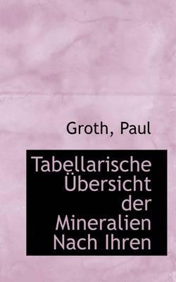 Tabellarische Bersicht Der Mineralien Nach Ihren
