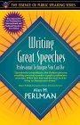 Writing Great Speeches