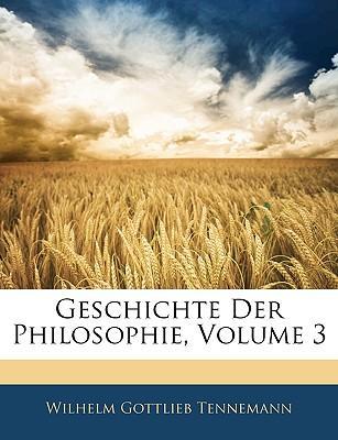 Geschichte der Philosophie, Dritter Band