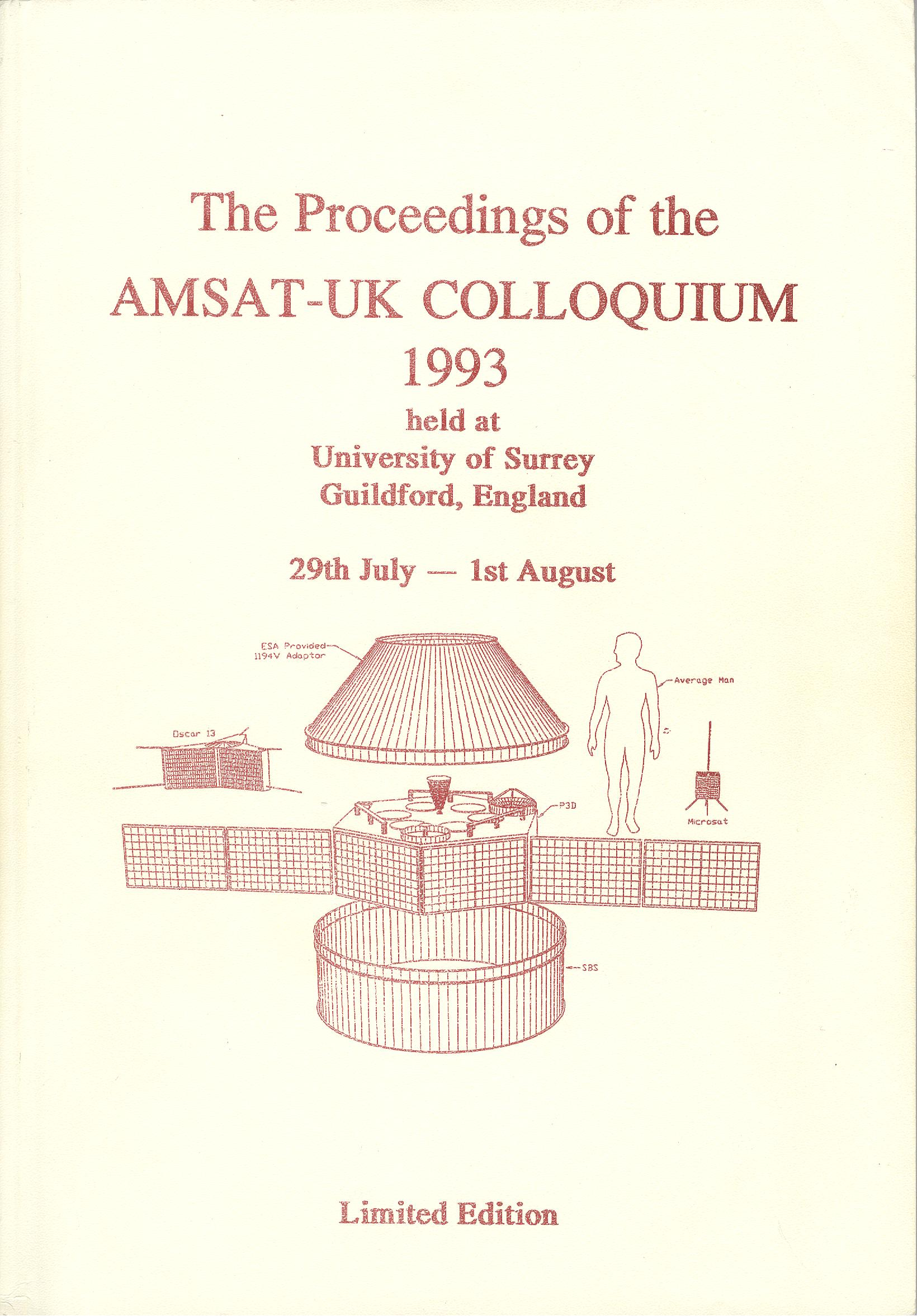 The Proceedings of the AMSAT-UK Colloquium 1993