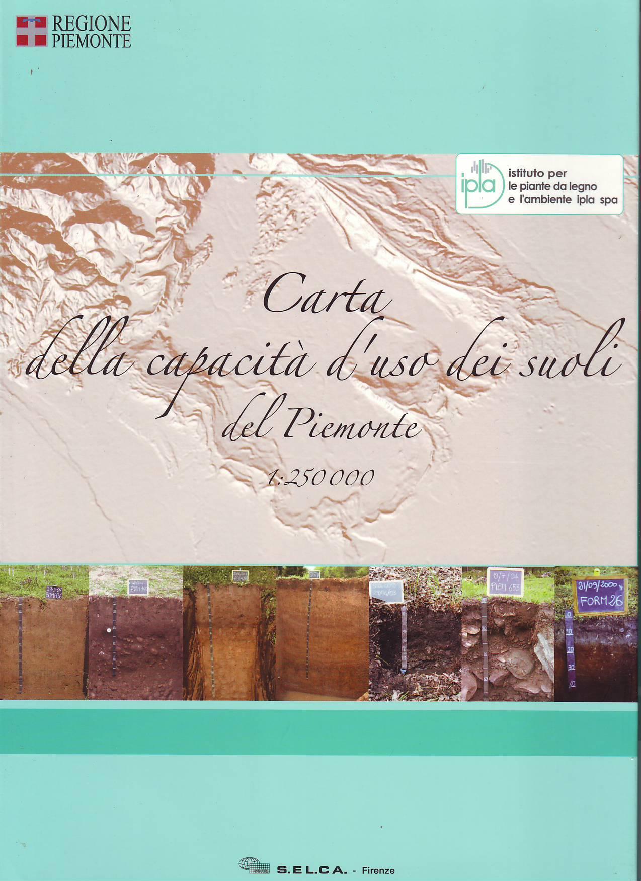 Carta della capacità d'uso dei suoli del Piemonte 1:250.000