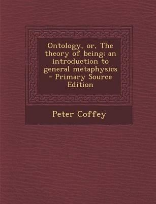 Ontology, Or, the Th...