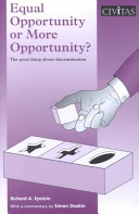 Equal Opportunity or More Opportunity?