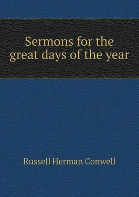 Sermons for the Great Days of the Year