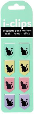 Black Cats I-clips Magnetic Page Markers