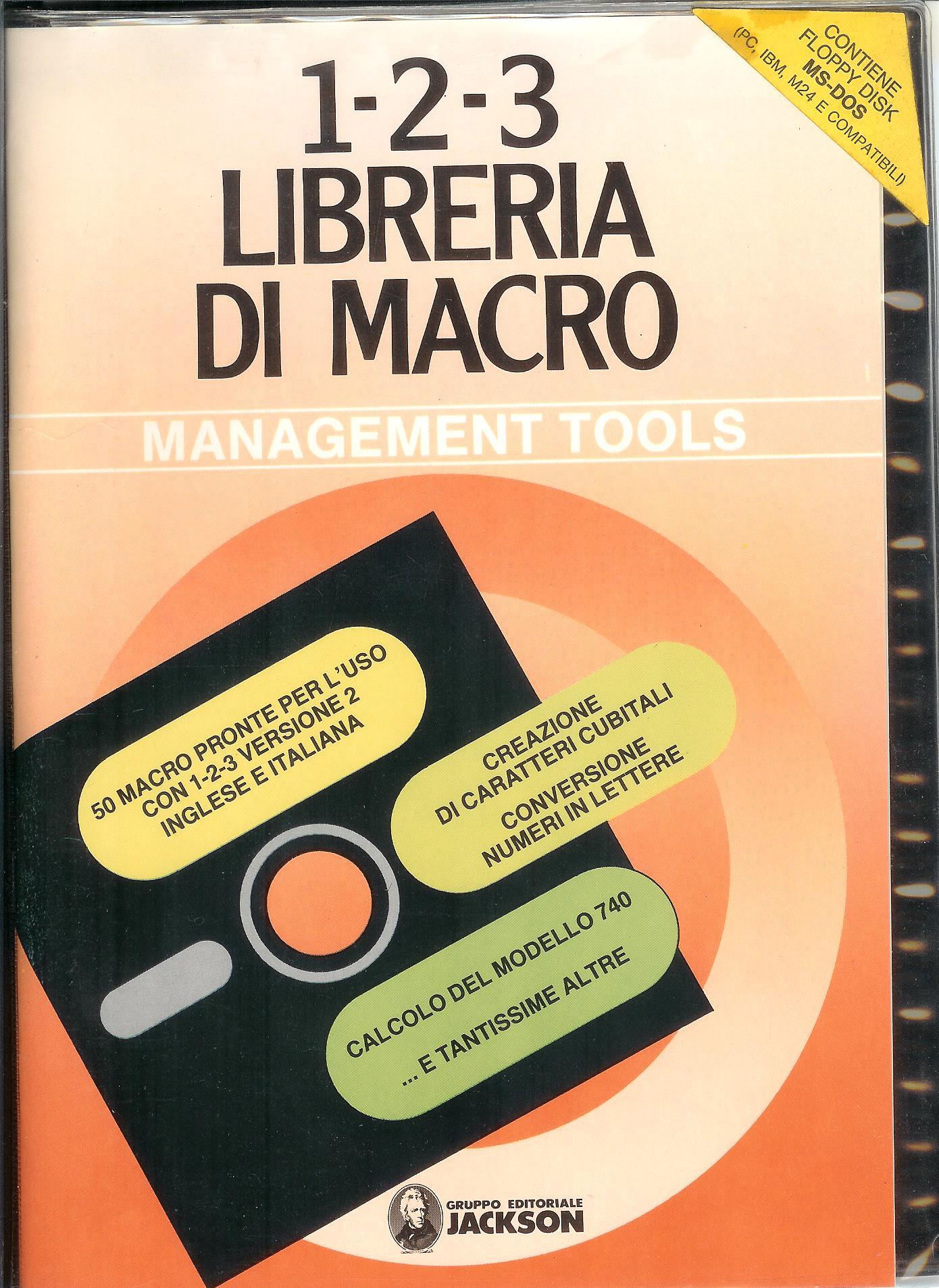 1-2-3 libreria di Macro. Con floppy disk