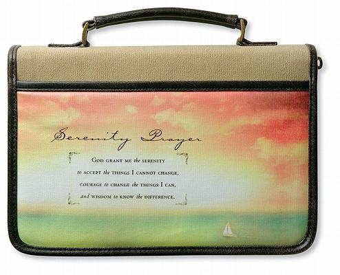 Serenity Prayer Canvas with Distressed Leather-Look Extra Large