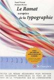 Le Ramat européen de la typographie