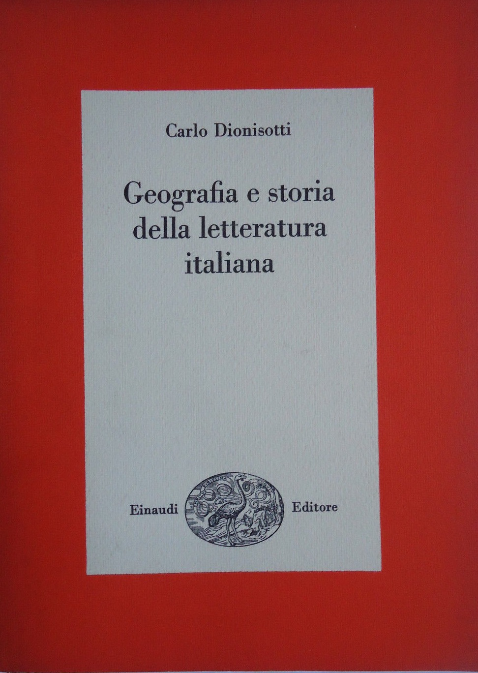 Geografia e storia della letteratura italiana