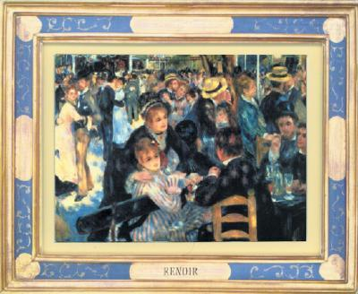 Dancing at the Moulin de la Galette by Pierre-Auguste Renoir