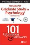 Preparing for Graduate Study in Psychology