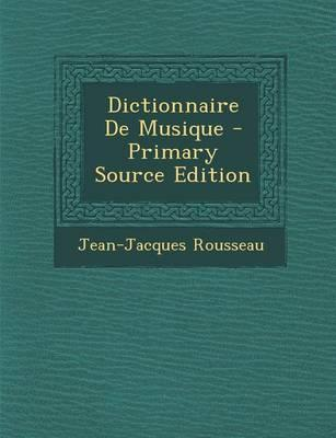 Dictionnaire de Musi...