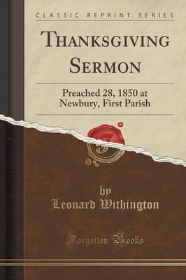 Thanksgiving Sermon