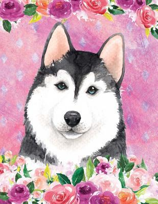 My Big Fat Journal Notebook For Dog Lovers Husky In Flowers 3