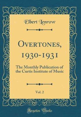 Overtones, 1930-1931, Vol. 2