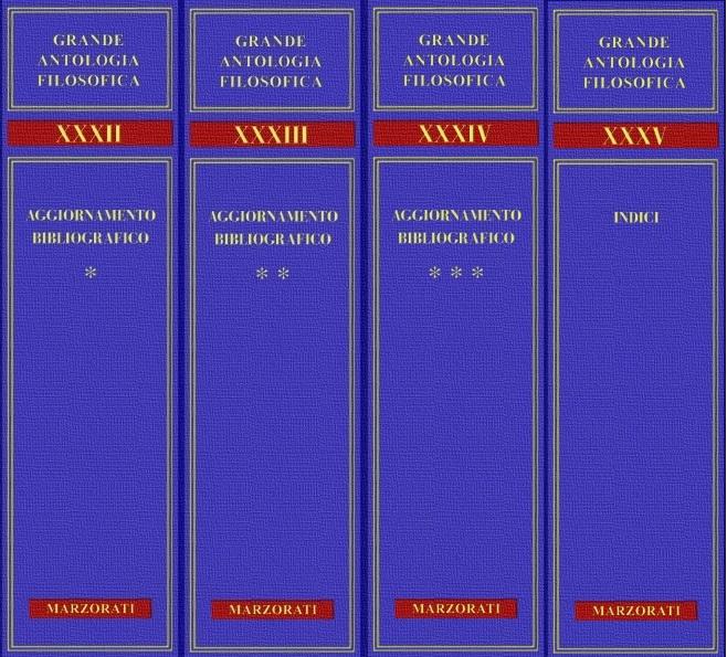 Grande antologia filosofica / Aggiornamento e indici