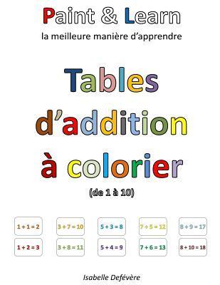Tables D'addition À Colorier 1-10