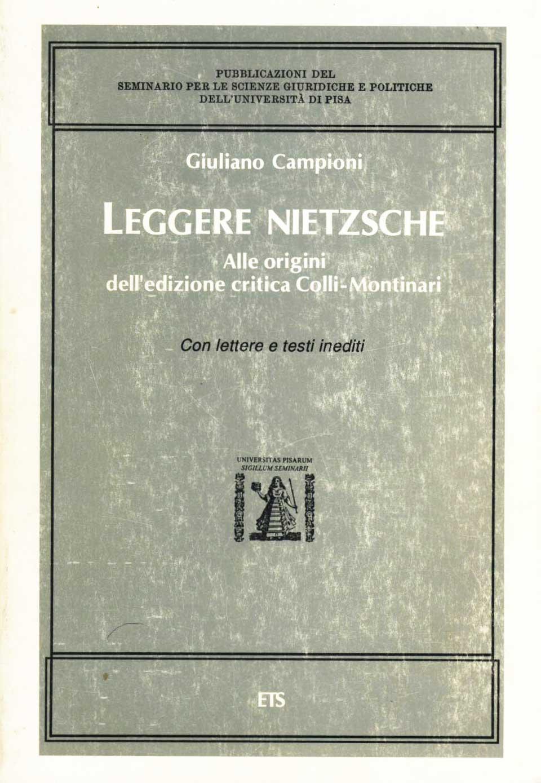 Leggere Nietzsche
