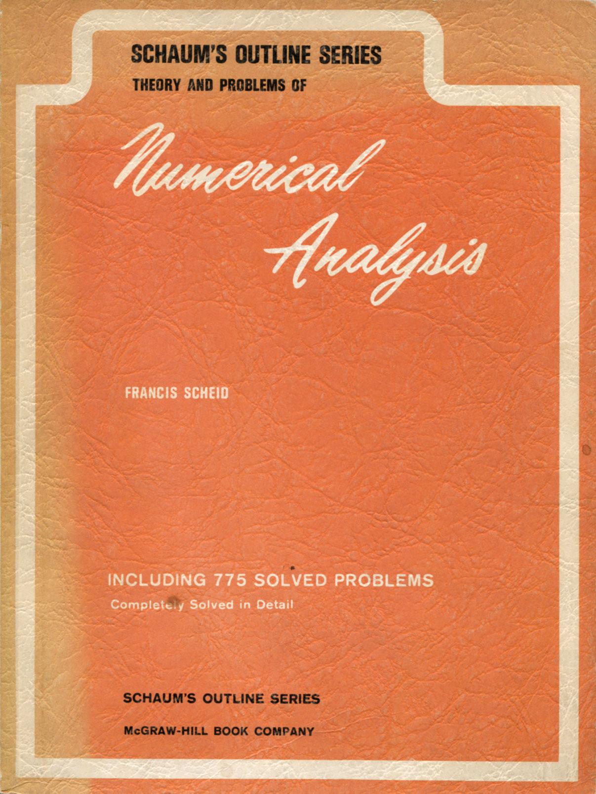 Schaum's Outline of Numerical Analysis