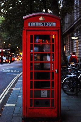 Red Telephone Box in London England Journal