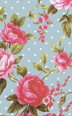 Vintage Rose Pastel Blue Polka Dot Notebook
