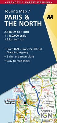 AA Touring Map Paris & the North