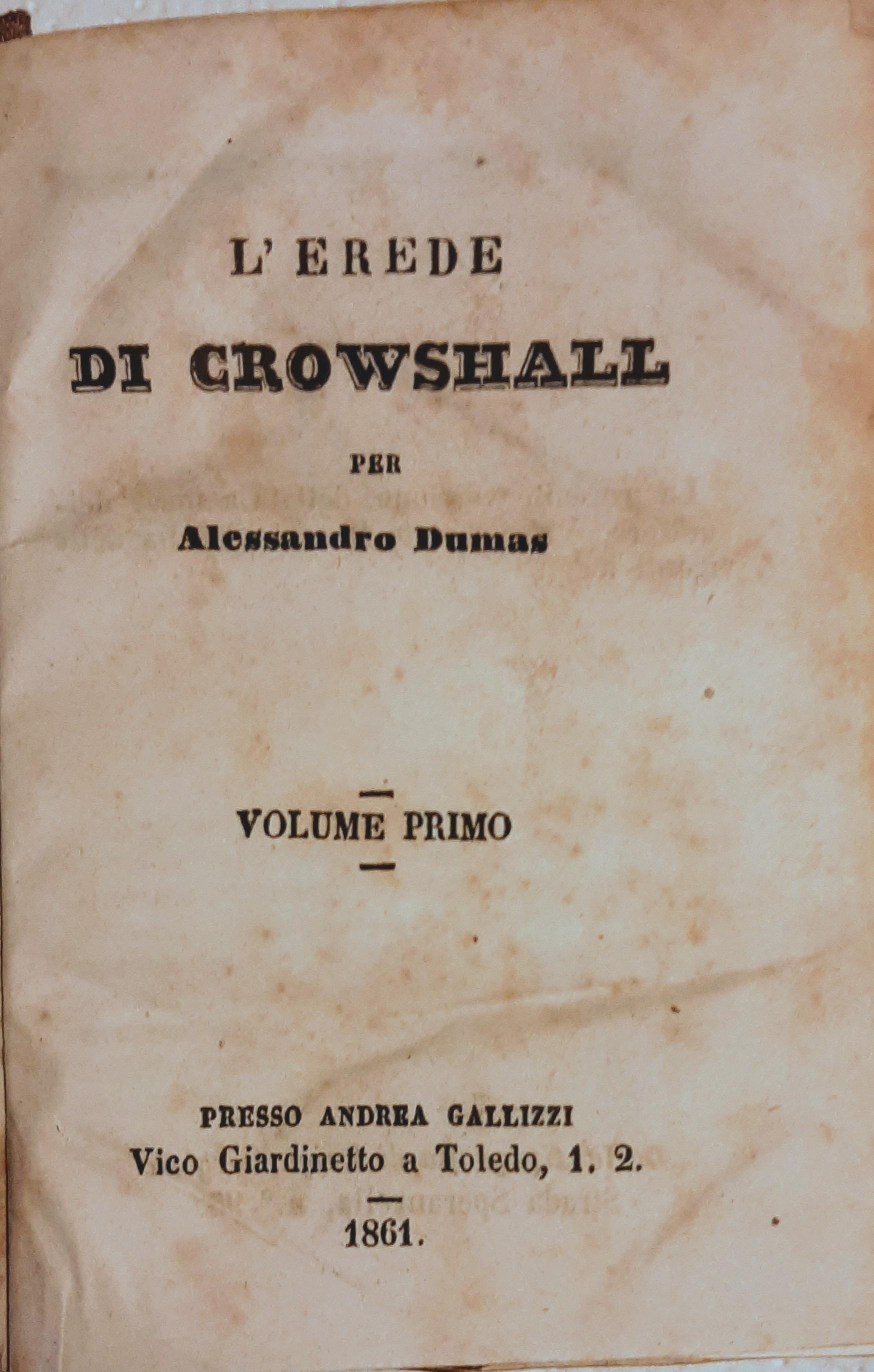 L'erede di Crowshall (vol. I)