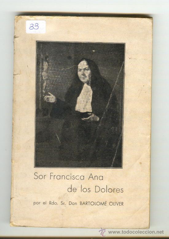 Vida de Sor Francisca Ana de los Dolores