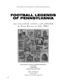 Football legends of Pennsylvania