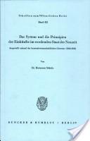 Das System und die Prinzipien der Einkünfte im werdenden Staat der Neuzeit