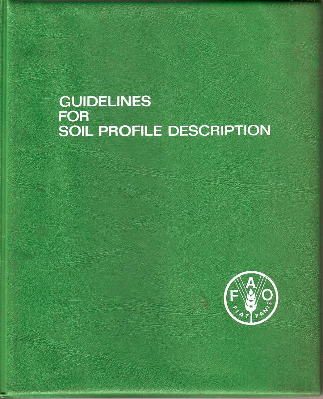 Guidelines for Soil Profile Description