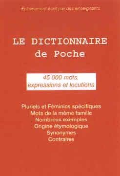 Le dictionnaire français de poche
