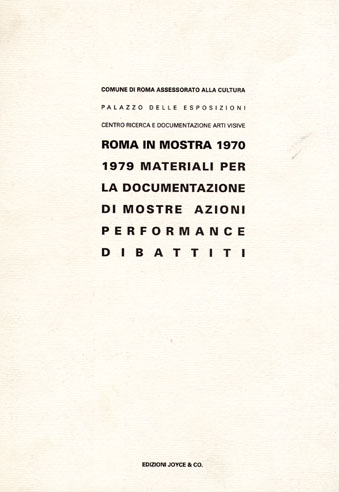 Roma in mostra (1970-1979)