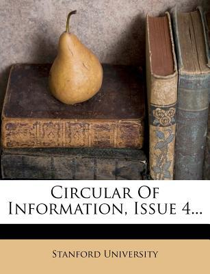 Circular of Information, Issue 4...